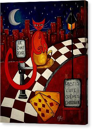 Le Chat Rouge  Canvas Print by Silvia Regueira
