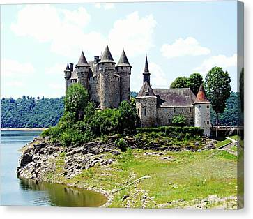 Canvas Print featuring the photograph Le Chateau De Val - France by Joseph Hendrix