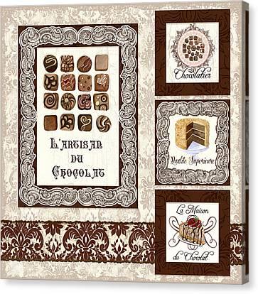 Le Chocolatier - L Artisan Du Chocolat Canvas Print by Audrey Jeanne Roberts
