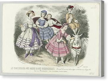 Le Conseiller Des Dames Et Des Demoiselles, Juillet 1861  Journal D Economie  Thierry, Paul Lacourie Canvas Print by Celestial Images