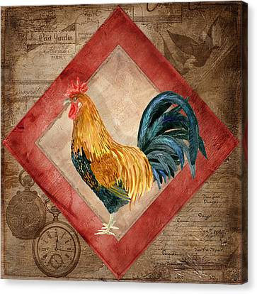 Le Coq - At The Rising Sun Canvas Print by Audrey Jeanne Roberts