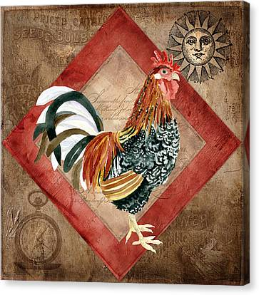 Le Coq - Greet The Day Canvas Print by Audrey Jeanne Roberts