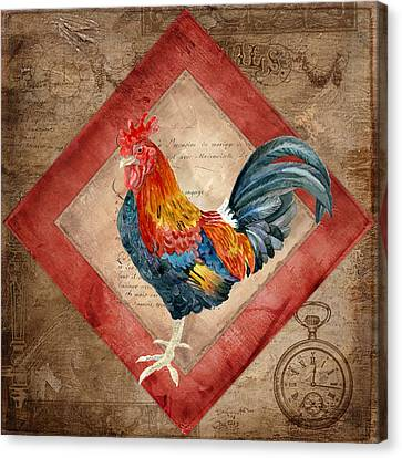 Le Coq - Timeless Rooster  Canvas Print by Audrey Jeanne Roberts