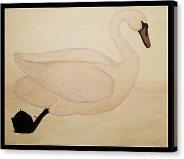 Le Cygne Canvas Print by Carrie Jackson