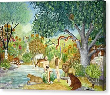 Le Jardin  Du Paradis Canvas Print by Colette Raker