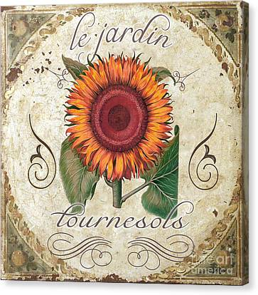 Le Jardin Tournesols  Canvas Print by Mindy Sommers