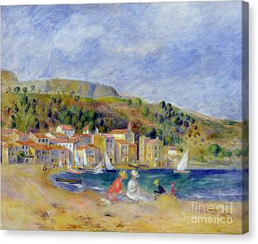 Port Town Canvas Print - Le Lavandou by Pierre Auguste Renoir
