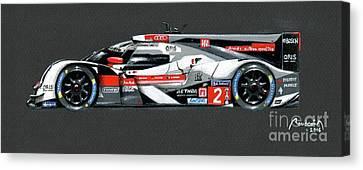 Le Mans 2014 Winner Profile Canvas Print