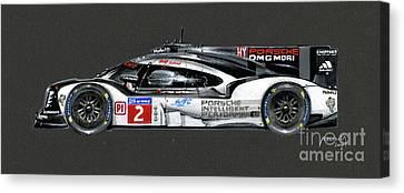Le Mans 2016 Winner Profile Canvas Print