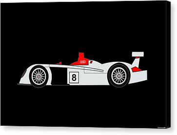Le Mans Audi R8 Canvas Print by Asbjorn Lonvig