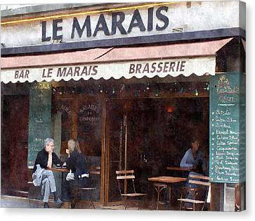 Le Marais Canvas Print by Matthew Bamberg