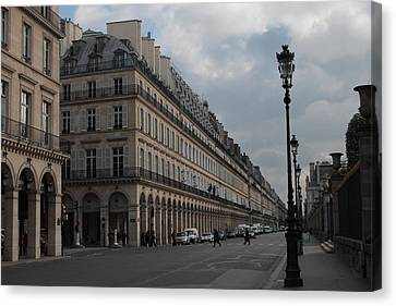 Canvas Print featuring the photograph Le Meurice Hotel, Paris by Christopher Kirby