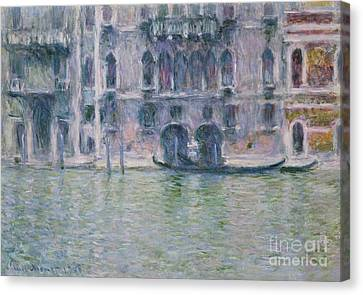 Le Palais Da Mula Canvas Print by Claude Monet