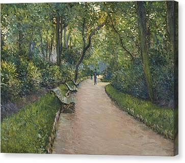 Le Parc Monceau Canvas Print by Gustave Caillebotte