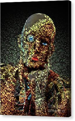 Canvas Print featuring the digital art Le Penseur  by Aimelle
