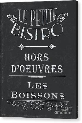 Bars Canvas Print - Le Petite Bistro 1 by Debbie DeWitt