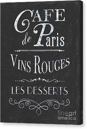 Bars Canvas Print - Le Petite Bistro 2 by Debbie DeWitt