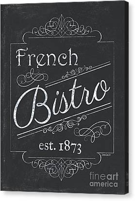 Bars Canvas Print - Le Petite Bistro 4 by Debbie DeWitt