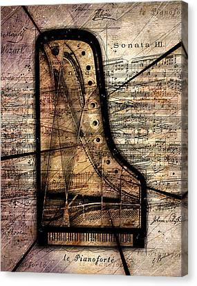 Le Pianoforte Variation II Canvas Print by Gary Bodnar