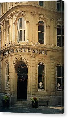 Le Place D' Armes Hotel  Canvas Print by Maria Angelica Maira