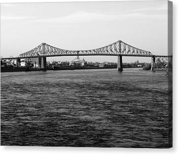 Le Pont Jacques Cartier Canvas Print by Robert Knight