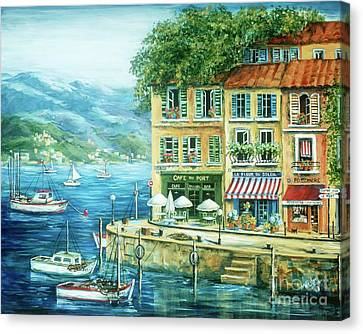 Le Port Canvas Print by Marilyn Dunlap