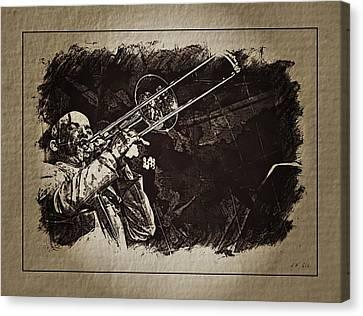 Le Roi Du Trombone  Canvas Print