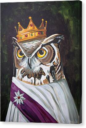 Le Royal Owl Canvas Print by Nathan Rhoads