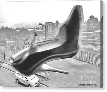 Flying Stiletto Canvas Print