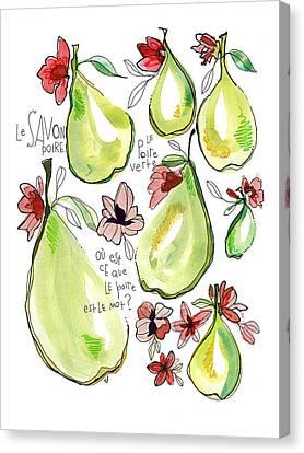 Le Savon Poire Canvas Print by Tonya Doughty