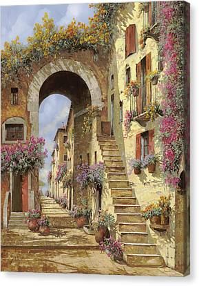 Le Scale E Un Arco Canvas Print by Guido Borelli