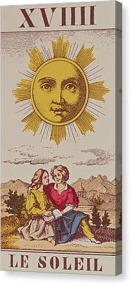Sun Rays Canvas Print - Le Soleil by French School