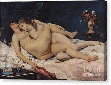 Le Sommeil Canvas Print by Gustave Courbet