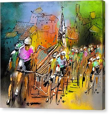 Le Tour De France 04 Canvas Print by Miki De Goodaboom