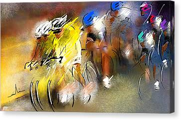 Le Tour De France 05 Canvas Print by Miki De Goodaboom