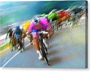 Le Tour De France 09 Canvas Print by Miki De Goodaboom