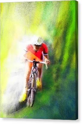 Le Tour De France 12 Canvas Print by Miki De Goodaboom