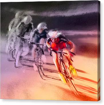 Le Tour De France 13 Canvas Print by Miki De Goodaboom