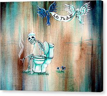 Dove Canvas Print - Le Tub IIi by Heather Calderon