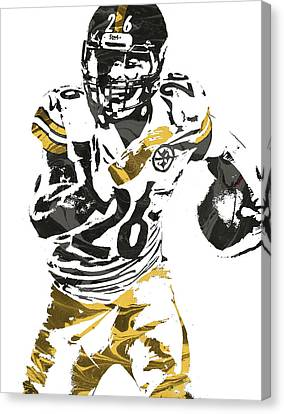 Le Veon Bell Pittsburgh Steelers Pixel Art 2 Canvas Print by Joe Hamilton