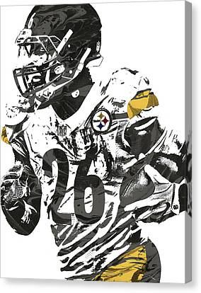Le Veon Bell Pittsburgh Steelers Pixel Art 3 Canvas Print by Joe Hamilton