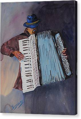 Le Vieil Accordeoniste  The Old Accordion Canvas Print by Dominique Serusier