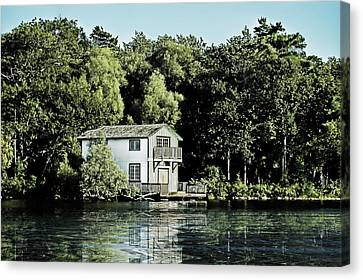 Leacock Boathouse Canvas Print
