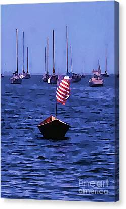 Leader Of The Pack- Bristol Rhode Island Oil Effect Canvas Print