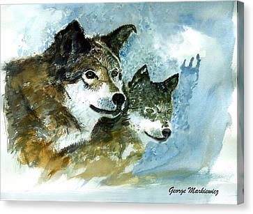 Leader Of The Pack Canvas Print by George Markiewicz