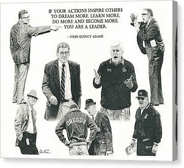 Leaders Of Men Canvas Print