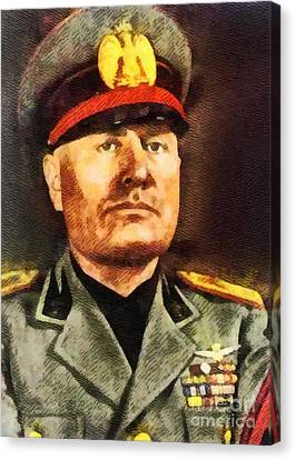 Trenches Canvas Print - Leaders Of Wwii - Benito Mussolini by John Springfield