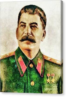Trenches Canvas Print - Leaders Of Wwii - Joseph Stalin by John Springfield