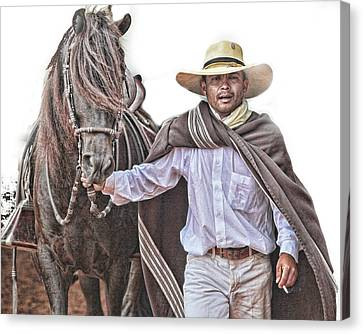 Leading To Competition Peruvian Horse Canvas Print by Toni Hopper