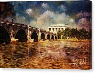 Leading To Lincoln Canvas Print by Lois Bryan